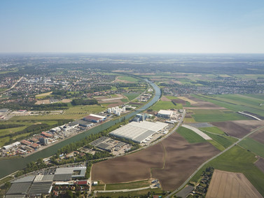 Aerial Shot of Agricultural Farm