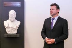 Slavnostní umístění busty F. L. Riegra v Parlamentu ČR