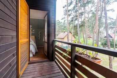 Balcony and master bedroom
