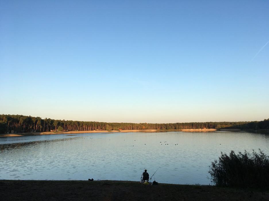 Fishing at Lake Lhota