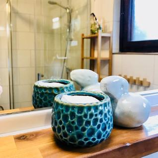 Newly refurbished bathroom with shower