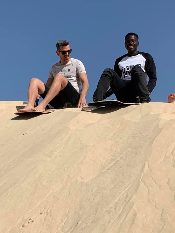 sandsledding