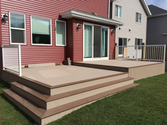 Two tier composite deck