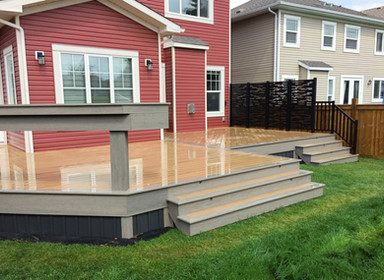 Bar rail on composite deck