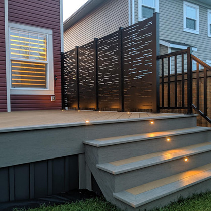 PVC deck with lighting