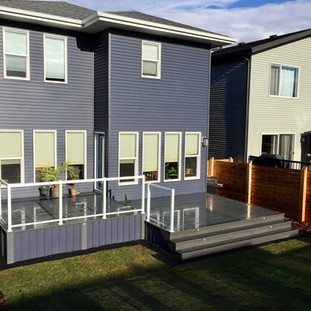 PVC deck with glass railing