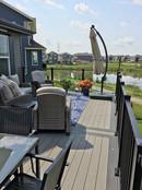 Deck overlooking pond