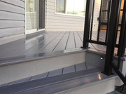 Close up of deck stair pattern