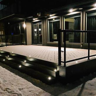 Deck after snowfall