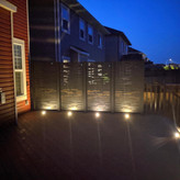 Hideaway privacy screen at night