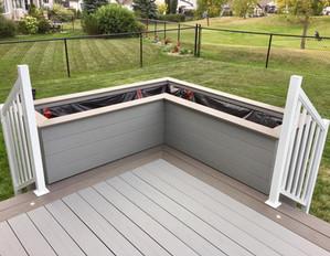 Planter box on PVC deck