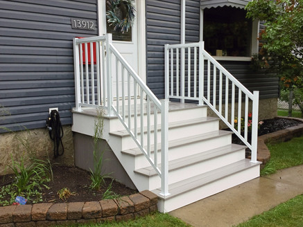 PVC steps on front of house