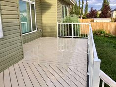 Gray PVC deck