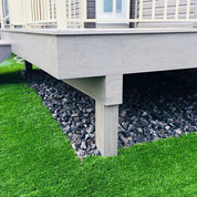 PVC deck with cladded posts