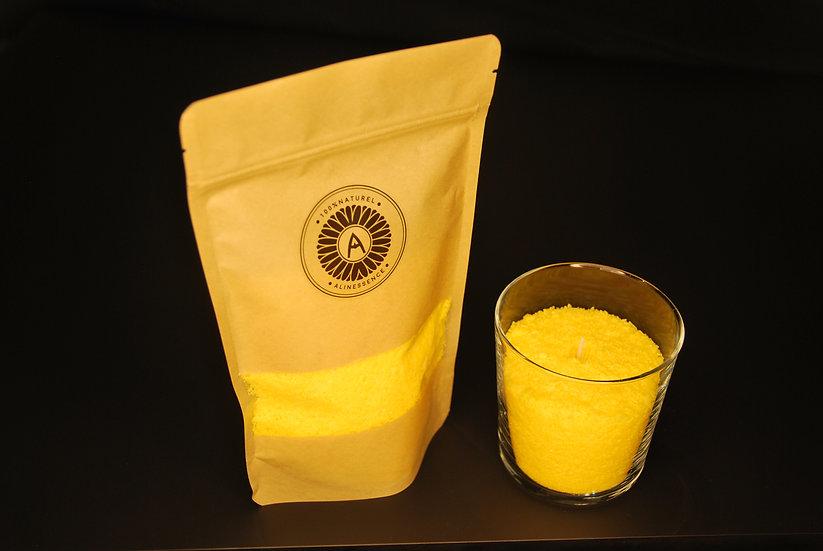 Kit bougie : flocons de cire jaune