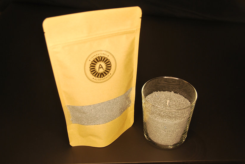 Kit bougie : flocons de cire grise