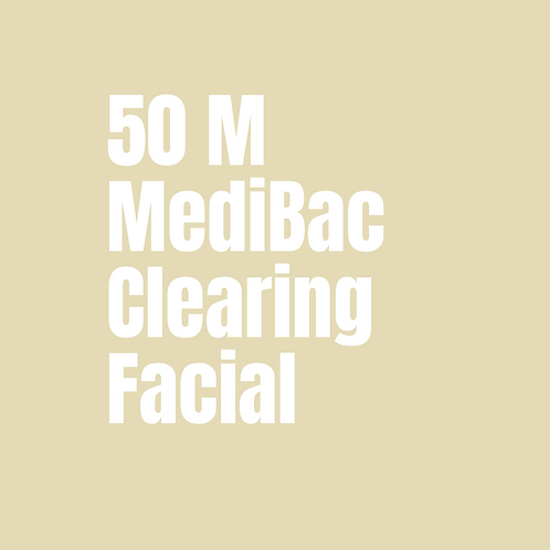 50 Minute MediBac Clearing Facial