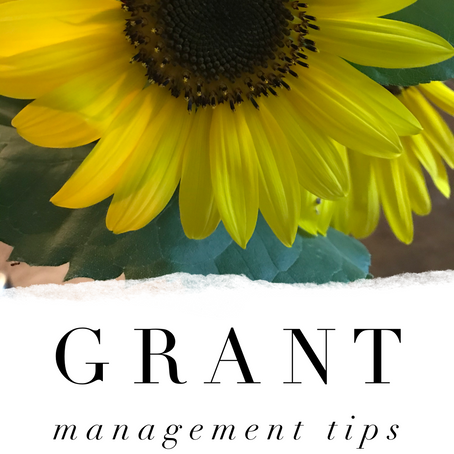 Grant Management Tips