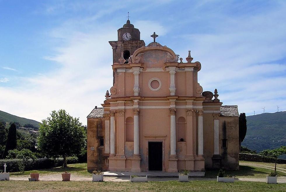 Eglise St-Nicolas (vue de face), Tomino.