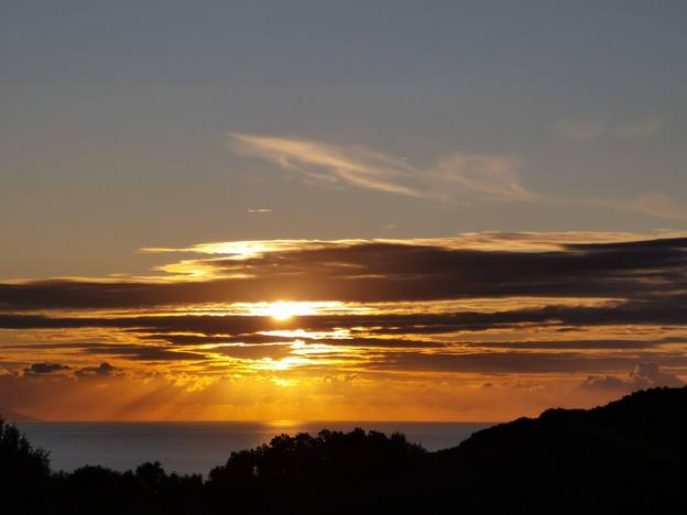 Lever de soleil sur Tomino