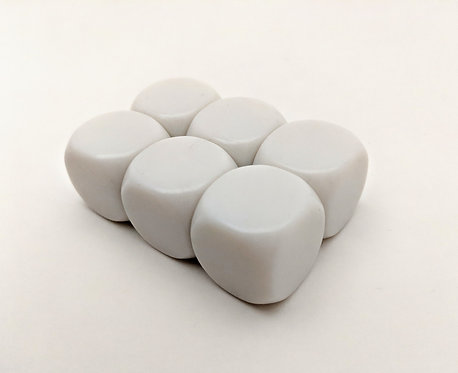 22mm Blank Rounded Corner Dice