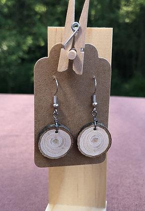 Circle Dangle Wooden Earrings