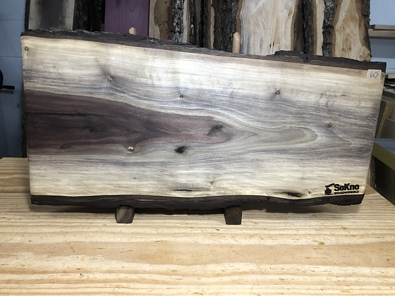 "Live Edge Black Walnut Cutting Board 20""x8.5"""