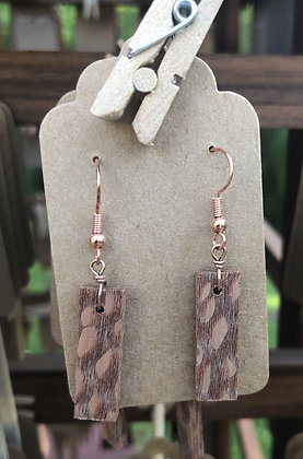 Rectangle Wooden Earrings