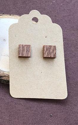 Stud Wooden Earrings