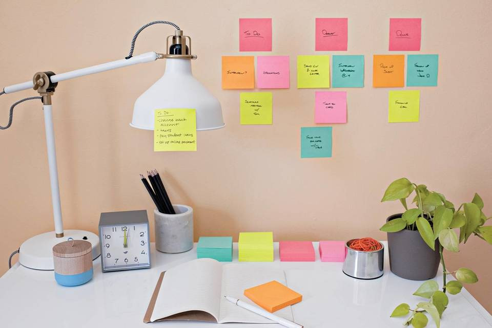 post it on the wall