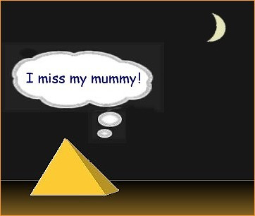 Pyramid and mummy