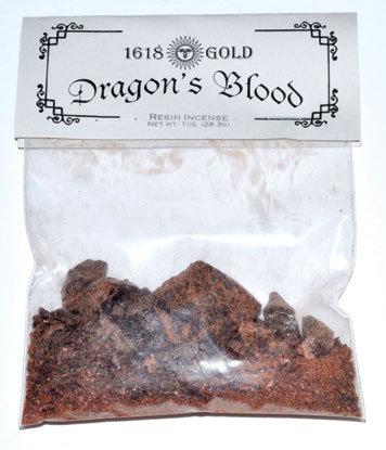 1618 Gold Granular Dragons Blood Incense