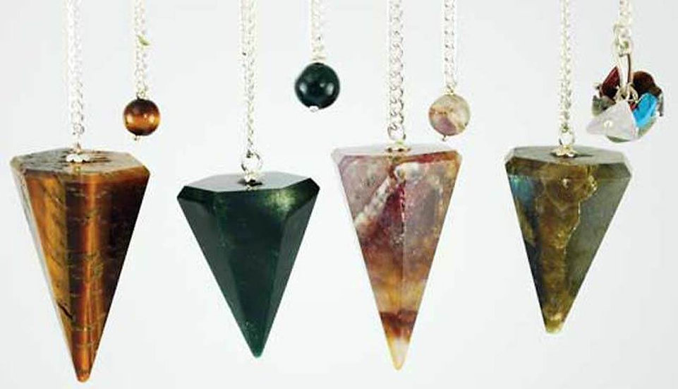 Assorted Faceted 6 Sided Pendulums