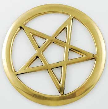 Brass Cut-Out Pentagram Tile