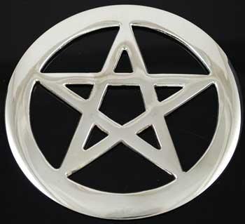 Silver Pentagram Altar Tile