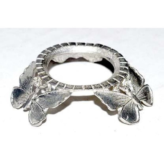 Silver Butterfly Crystal Ball Stand