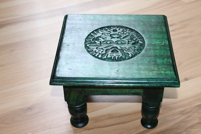 Green Man Altar Table