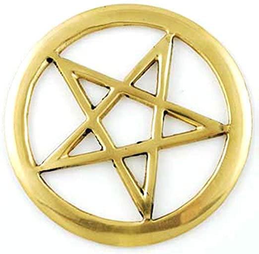 Brass Pentagram Altar Tile