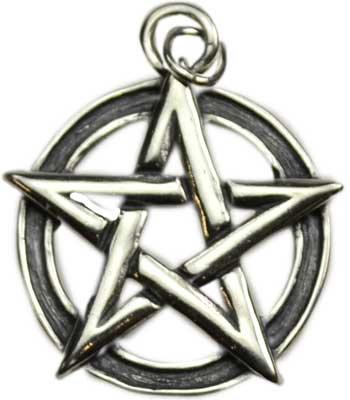 Sterling Silver Pentacle Pendant