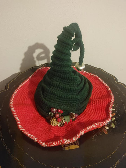 Red/Black Yule Witch Hat