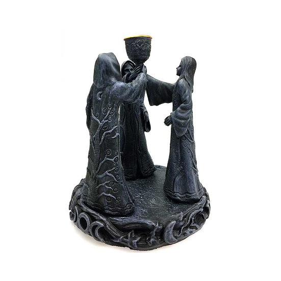 "7"" Maiden Mother Crone Cone Incense Holder"