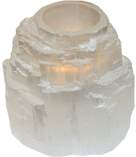 Selanite Tealight Candle Holder