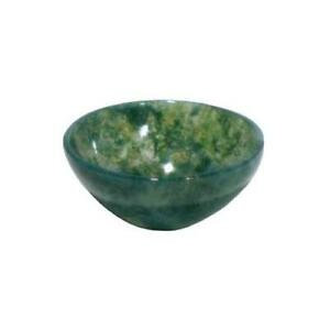 Green Moss Agate Offering Bowl