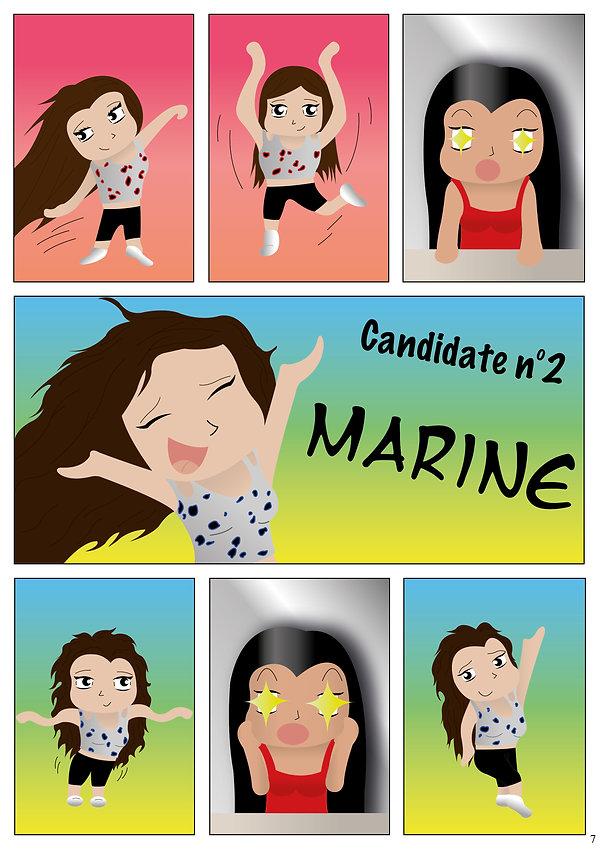 etoile spectacle danse candidate Marine