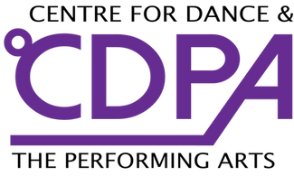 CDPA logo. Centre for dance & the performing arts