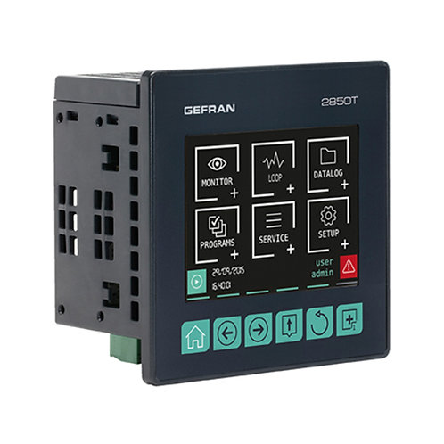 """2850T Up to 8 PID loops Controller Programmer and Recorder, 3.5"""" graphic touch i"""