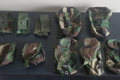Woodland MOLLE Pouch Lot