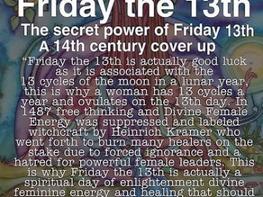Friday the 13th is not an unlucky day- Here's the spiritual significance⭐️