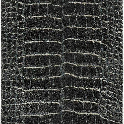 Maxell MAE09 Charcoal Grey 8' Runner Snakeskin PatternRug