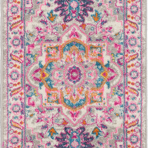Nourison Passion 2'x3' Grey and Pink Persian Area Rug